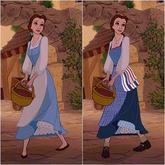 """Look there she goes, that girl is strange, no question""📖🎵 Little edit, blue dress before and after. Disney Pixar, Film Disney, Disney Nerd, Disney Fan Art, Disney And Dreamworks, Disney Cartoons, Disney Animation, Disney Love, Disney Magic"