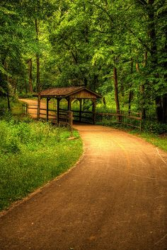 Covered Bridge, Kankakee State Park, Illinois. Perfect place for a jog.