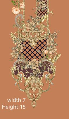 Textile Pattern Design, Baroque Pattern, Pattern Art, Digital Print Textiles, Textile Prints, Gala Design, Flower Art Images, Back Of Neck Tattoo, Spider Art