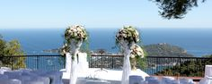 Ceremony overlooking the Sea on the French Riviera Antibes, French Riviera, Decoration, Cannes, Wedding Planner, Communication, Wedding Ideas, Sea, Weddings