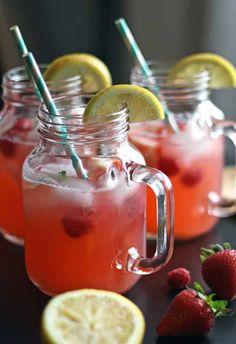 Berry Basil Lemonade | Honey and Birch #drinks