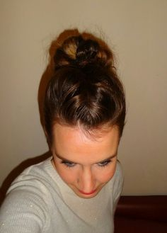 French front braid into messy bun