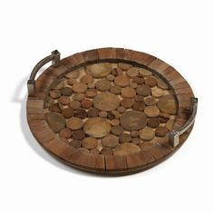Zodax Hagron Reclaimed Wood and Metal Tray - IN-6027