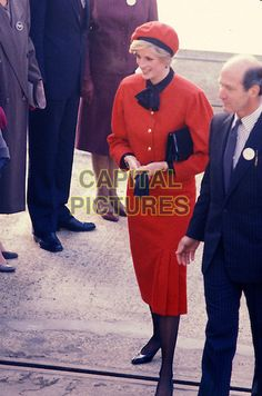 15th November 1984 Princess Of Wales Launches The New P & O Liner Princess Royal..