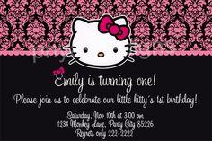Hello Kitty Printable Invite