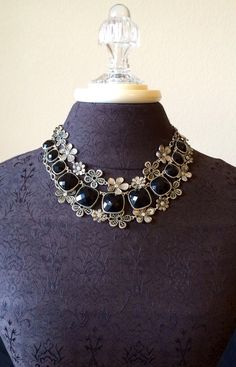 The Perfection necklace nested between the doubled Daisy Chain. Jewelry by Premier Design.  www.pennylacey.com