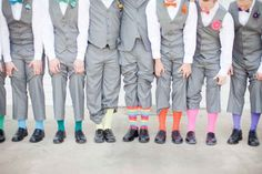 ...or to socks. | 35 Incredibly Creative Ways To Add Color To Your Wedding