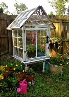 Spring is here. If you are planing to add some fun additions to your garden or yard and do not want to spend much money on those expensive decorations, why not try repurposing your old home items and create a few interesting, beautiful and functional gard                                                                                                                                                                                 More