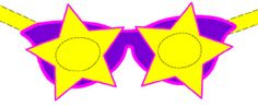 FREE Star Shaped Eyeglasses Adobe PDF printable craft sheet makes 1 paper mask and comes complete with instructions for cutting, pasting and assembly.