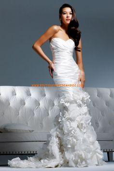 Robe de mariée 2011 sirène fleurs organza