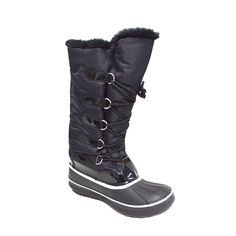 Shoelace Women's Tall Winter Snow Boot Waterproof Water Resistant Fleece Lined Warm Rain Boot (Marley-06) * Check out this great product.