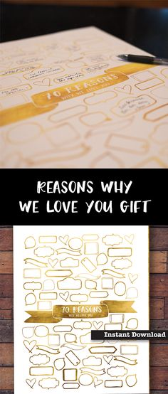 70 Reasons Why We Love You Printable 70th Gift