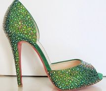 Not sure I'd wear these green shoes - I'd probably just pull them out to admire them from time to time.