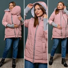 Winter babywearing TRANSFORER jacket Maternity down coat Maternity Jacket, Maternity Wear, Twin Pictures, Pregnancy Stages, Baby Warmer, Pregnant Mom, Fall Jackets, Down Coat, Baby Wearing