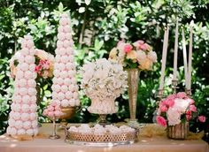 meringue topiaries! love this, so doing this!