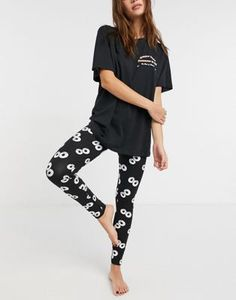 Oversized Long Sleeve Shirt, Oversized Tee, Long Sleeve Shirts, Asos, Leggings, Pajama Set, Pajama Pants, Cute Pajamas, Pyjamas