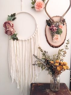 Natural botanical antler mount. Shabby chic home by Gypsydaydream