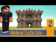 Minecraft Tutorial Let's Build: Small Simple Medieval Castle Wall Gate! Ep.2 PS4/XBOX/PS3/PC/PE - YouTube