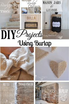 If you are passionate about burlap DIY projects, here's a of easy burlap projects collection from the website.  Country Design Style