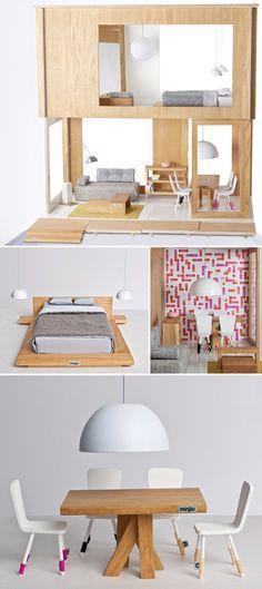 Scandinavian Doll's House - too sweet.
