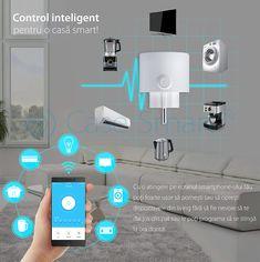 😊Programeaza-ti dispozitivele din locuinta cu ajutorul prizei inteligente RedSun Wifi M6! Este compatibila cu marea majoritatea a electrocasnicelor, cum ar fi televizoare, lampi, ventilatoare, frigidere, umidificatoare, si alte dispozitive cu functii prestabilite de pornire / oprire. Wi Fi, Minimalism, Led, Design, Fan, Design Comics