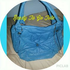 Ready To Go Teal colored Tote Ready To Go Teal colored Tote bag has loads of extra storage with lots of extra compartments. Dazzle Her Now Bags Totes