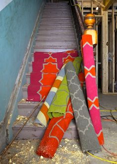 KTH flat weave carpets, wool or cotton, customizable colours and sizes. Photo by Susan Gouinlock