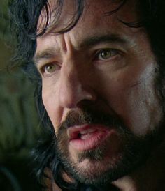 """1991 - Alan Rickman as the sheriff of Nottingham in """"Robin Hood: Prince of Thieves."""" His eyes are gorgeous ..."""