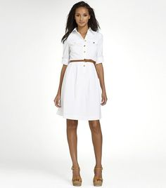 blythe dress from Tory Burch - bright white look for summer