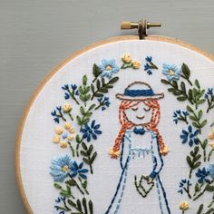 Anne of Green Gables Digital Pattern Hand Embroidery DIY