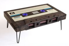 Classic Cassette Tape Coffee Table by 214Graffiti on Etsy, $1499.00