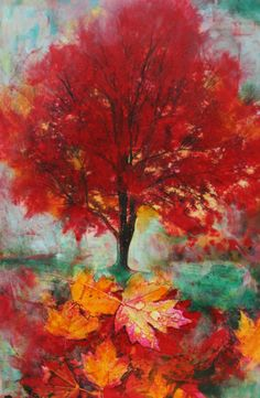 Autumn glowOriginal signed fine art pastel by dahliahousestudios, $75.00