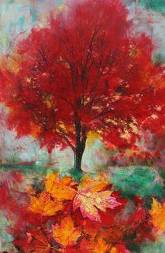 Autumn glowOriginal signed fine art pastel by dahliahousestudios, $75.00