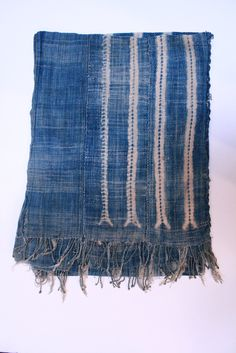 Vintage West African indigo scarf at Loopy Mango - SoHo Boutique - 78 Grand St., New York - Product