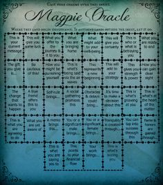 How to use the Magpie Oracle Casting Sheet - CarrieParis.com