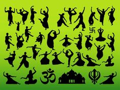Indian Dance Designs Vector Art & Graphics | freevector.com