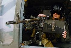 Israeli IDF Women like heavy machine guns.