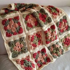 """Summer in Sweden Throw - Free Pattern - Love these colors...and here's another one on the """"to do"""" list! <3"""