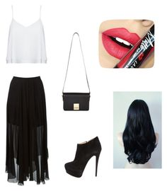 """""""#BeautyInBlack - a day to go out in black shiny look"""" by zulitomlinson on Polyvore featuring beauty, Étoile Isabel Marant, Alice + Olivia, Giuseppe Zanotti, Fiebiger and Jaeger"""