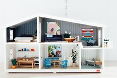 Gorgeous styling of a Lundby Dolls House by Petite Collaborations Lucy Feagins, The Design Files - The Petite Edit