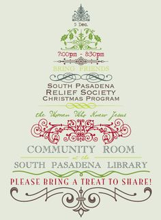 ideas for invitations for a relief society family history activity - Google Search