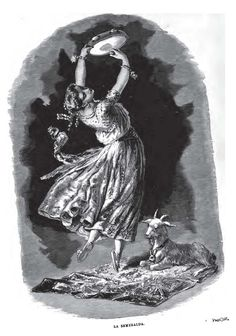 Esmeralda and Djali - Illustration from Notre Dame de Paris