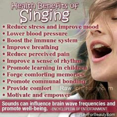 Do you suffer from depression? Here's a universal truth--when you're depressed or discouraged, SING!