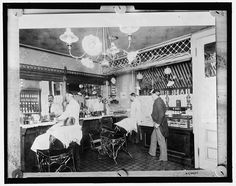 L.C. Wiseman, barber shop, New York City, c.early 1900's