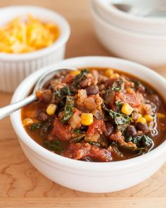 Recipe: Easy Turkey Chili with Kale Weeknight Dinner Recipes from The Kitchn | The Kitchn - sans beans & corn