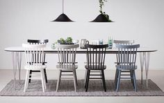 Dining table with 6 chairs - Decor - Decor, Interior, Living Dining Room, Home Furniture, Dining Table, Home Decor, House Interior, Dining Table Chairs, Furnishings