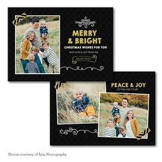 Gold Bright Holiday Card Template  1