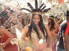 taino dominicanos  | Anacaona y sus virgenes en el Carnaval Barriga Verde