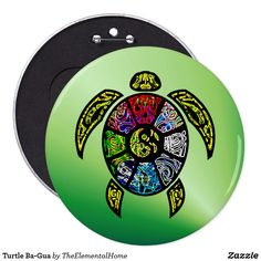 Turtle Ba-Gua Button by TheElementalHome on Zazzle > SOLD a colossal-sizede button, 4.14.17