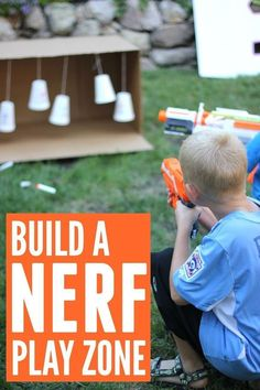 : Create a Fantastically Simple NERF Family Play Zone Toddler Approved!: Create a Fantastically Simple NERF Family Play Zone The post Toddler Approved!: Create a Fantastically Simple NERF Family Play Zone appeared first on Pink Unicorn. Nerf Games, Fun Games, Fun Activities, Kids Outdoor Activities, Kids Summer Activities, Backyard Games For Kids, Activities For 6 Year Olds, Backyard Toys, Outside Activities